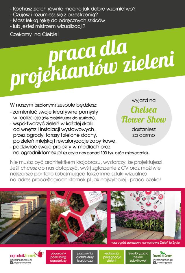 Praca dla architekta krajobrazu - ogrodnik tomek - Warszawa