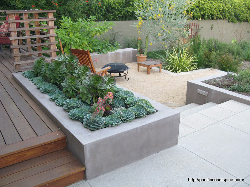 Raised Beds For Easy Low Maintenance Backyard Gardens as well Small Front Garden Design Ideas further Beton W Ogrodzie as well 206673070374019925 also Modern Mountain Lake Tahoe Contemporary Deck Phoenix. on mid century modern house plans courtyard