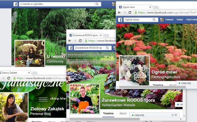 Strony na Facebooku