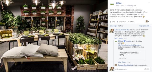 Rośliny w Ikea