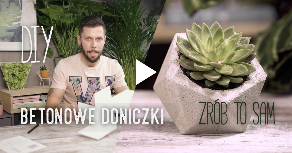 Jak zrobić betonową doniczkę? [video krok po kroku] – Zrób to z ogrodnikiem Tomkiem odc. 1
