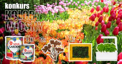 """Konkurs """"Kolory wiosny"""" z Viva Garden – wygraj farby do ogrodu, inteligentną doniczkę i inne nagrody"""